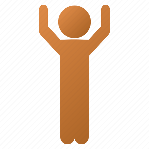 boy, child, customer profile, hands up, human figure, standing pose, user account icon
