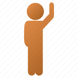 boy, child, guy, hello, human figure, man pose, user account icon