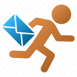 delivery, email, express, letter, mail courier, message, messenger icon