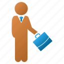 business man, customer profile, human figure, manager, office work, person, user account icon