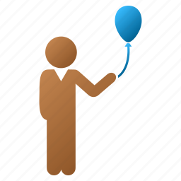 balloon, celebration, child, fete, fiesta, gala day, holiday icon