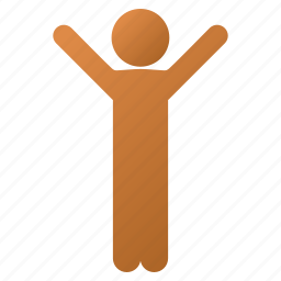 child, fun, hands up, happiness, happy boy, joy, satisfaction icon