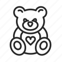 baby, bear, birth, childhood, maternity, nursery, toy icon