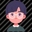 avatar, boy, children, glasses, kid, person, youth