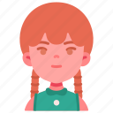 avatar, children, girl, kid, person, youth icon
