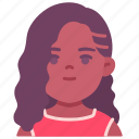 avatar, children, chubby, girl, kid, person, youth icon