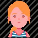 avatar, children, girl, kid, person, ponytail, youth icon