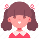 avatar, children, girl, kid, person, smile, youth icon