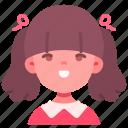 avatar, children, girl, kid, person, smile, youth