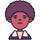 afrohair, avatar, boy, children, kid, person, youth icon