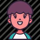 avatar, boy, braces, children, kid, person, youth icon