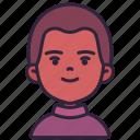 avatar, boy, children, kid, person, skinhead, youth icon