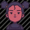 avatar, children, earrings, girl, kid, youth icon