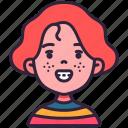 avatar, children, freckles, girl, kid, person icon