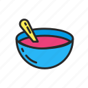 childhood, children, food, motherhood, plate, soup icon