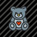 bear, childhood, children, motherhood, toy icon