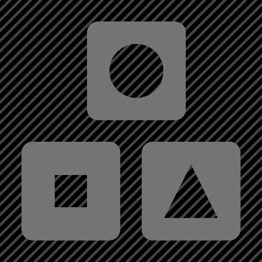 blocks, children, shapes, toy icon