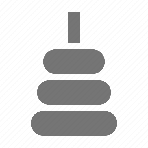 baby, rings, stacker, toy icon