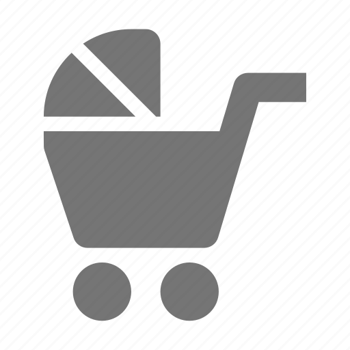 baby, stroller, trolley icon