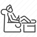 chill, chilling, relax, lay back, armchair, drink, resting icon