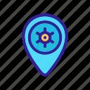 contour, location, silhouette, tokyo icon
