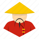 chinese, asia, traditional, china, asian, hat, man