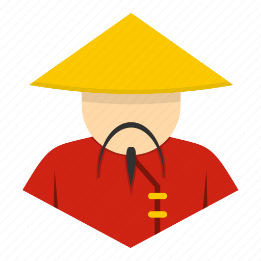 asia, asian, china, chinese, hat, man, traditional icon
