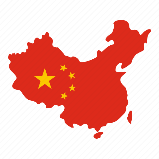 asia, china, chinese, country, flag, geography, map icon