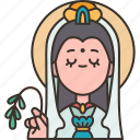 guan, yin, goddess, mercy, chinese icon