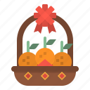 chinese, fruit, new, oranges, year icon
