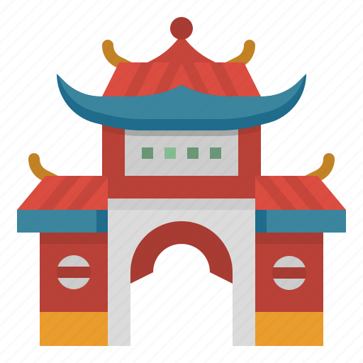 architecture, building, chinese, culture, temple icon