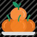 oranges, fruit, mandarin, citrus, chines, chinese new year, orange fruit