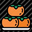 persimmon, fruit, sweet, organic, food, kaki