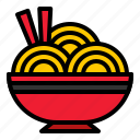 bowl, china, chinese, chopstick, food, noodle icon