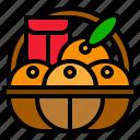 basket, china, chinese, fruit, gift, orange icon