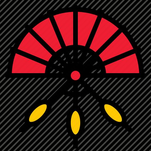 china, chinese, hand fan, handheld icon