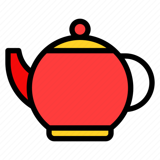 asian, chinese, culture, new year, pot, teapot icon