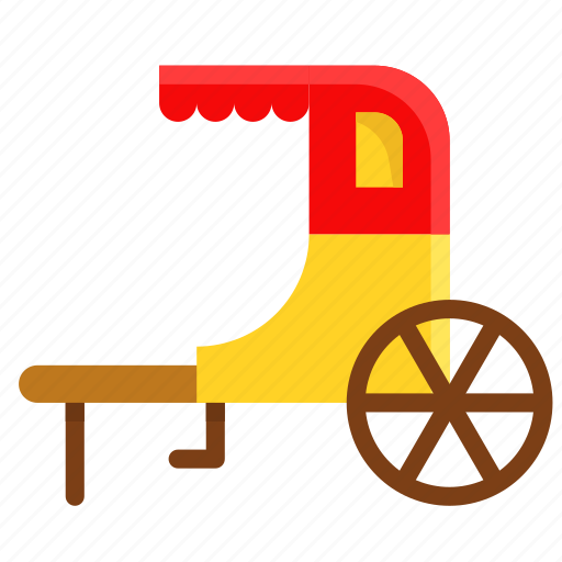 asian, chinese, culture, new year, rickshaw, vehicle icon