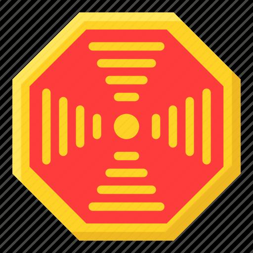 asian, bagua, chinese, culture, emblem, new year, pakua icon