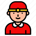 asian, avatar, chinese, culture, man, new year icon