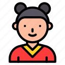 asian, avatar, chinese, culture, girl, new year, woman icon