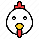 animal, asian, chicken, chinese, new year, rooster, zodiac icon