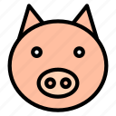 animal, chinese, culture, new year, pig, zodiac icon