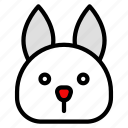 animal, bunny, chinese, culture, new year, rabbit, zodiac icon