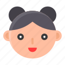 asian, chinese, culture, girl, new year, smile icon