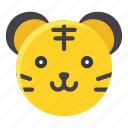 animal, asian, chinese, culture, new year, tiger, zodiac icon