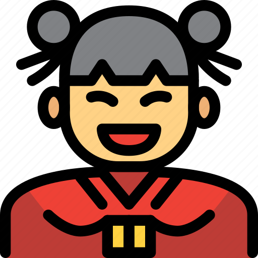 Celebration, chinese, girl, new year, woman icon - Download on Iconfinder