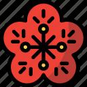 celebration, chinese, new year, plum icon