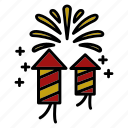 chinese, firework, firecrackers icon