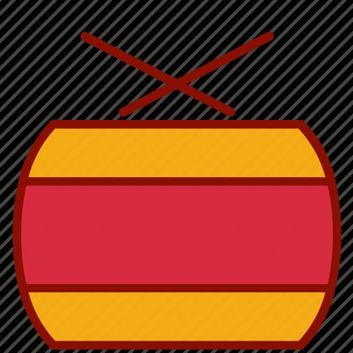 chinese, drum, new, year icon